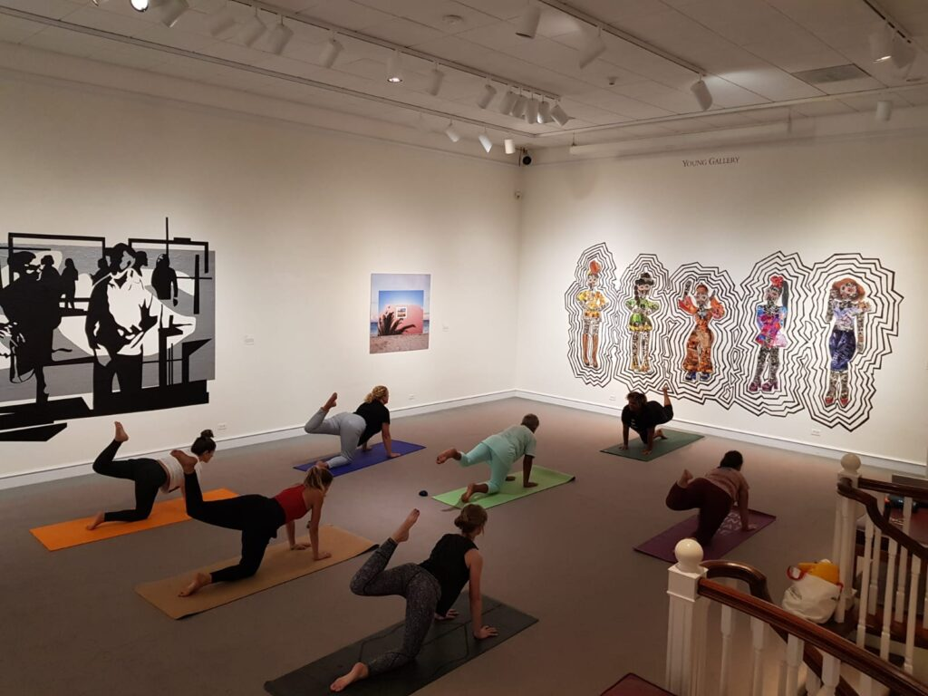 Bermuda National Gallery mindfulness and yoga session for world mental health day