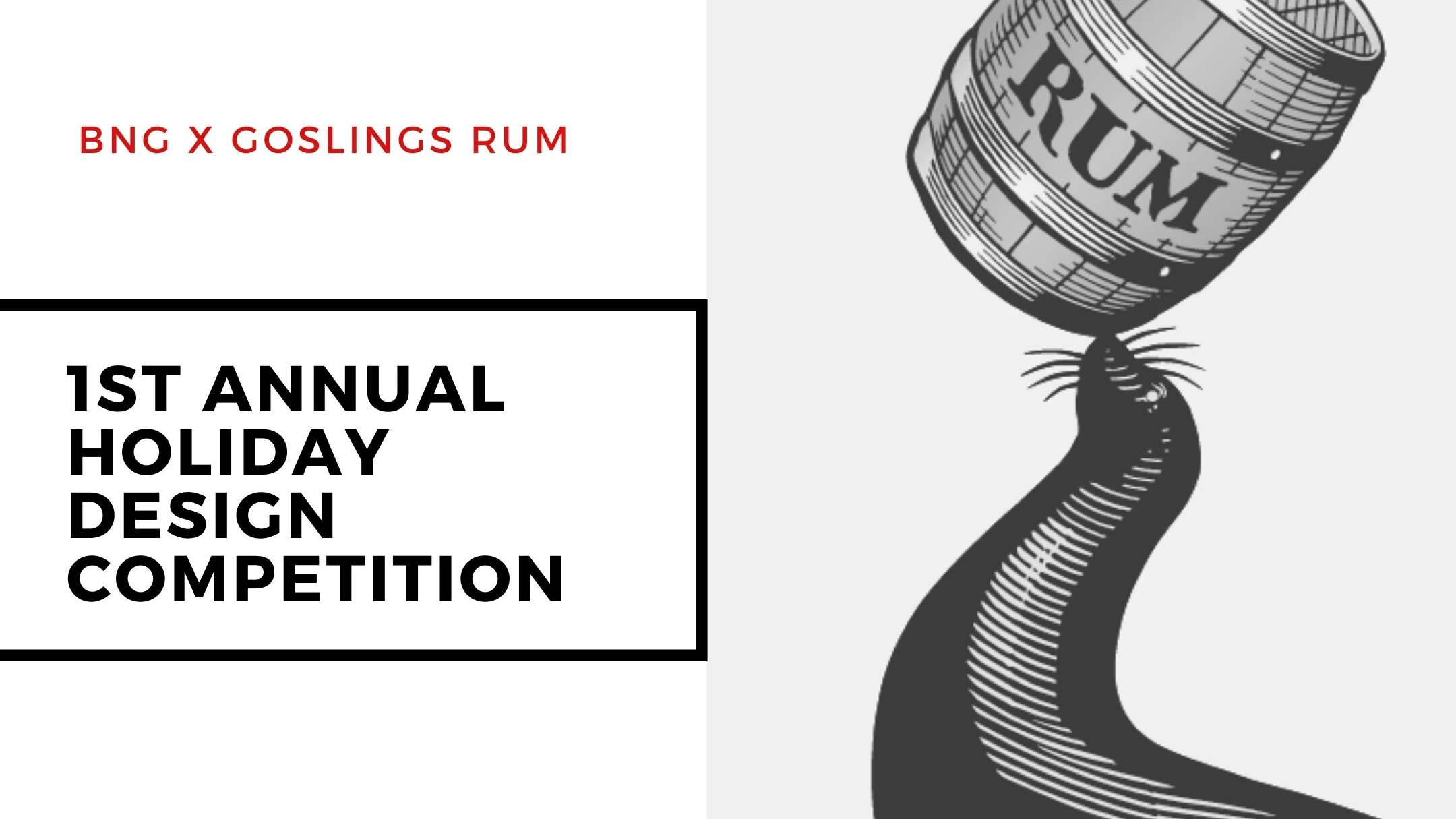 Bermuda National Gallery and goslings rum holiday wrapping paper competition