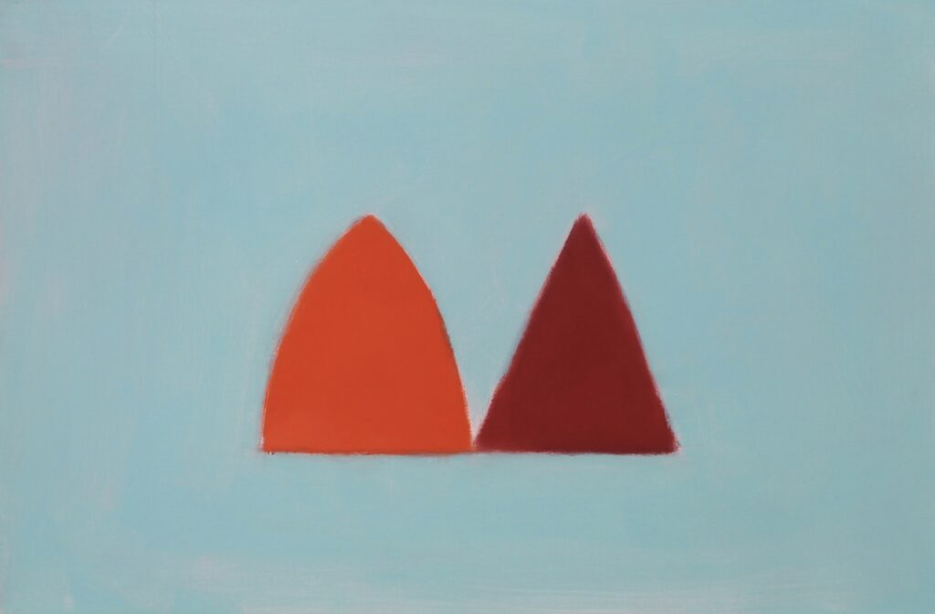 Cynthia Kirkwood Two Reds and Pale Blue Bermuda National Gallery