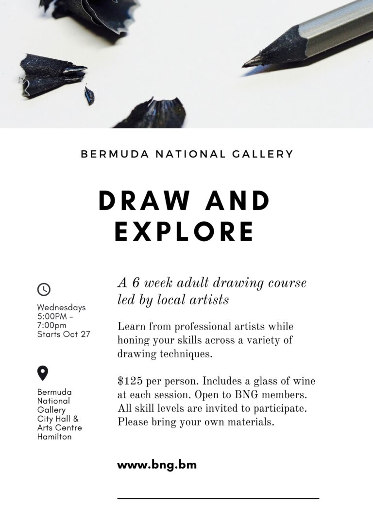 draw and explore bermuda national gallery